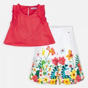 Completo blusa e pantalone floreale