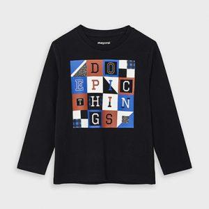 Maglietta manica lunga lettere bambino