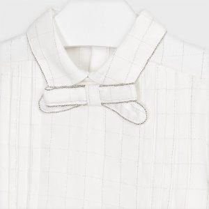 Blusa colletto con fiocco bambina