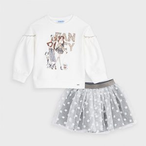 Completo gonna tulle bambina