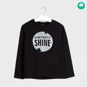 Maglietta manica lunga applicazione glitter