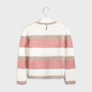 Maglioncino tricot righe ragazza