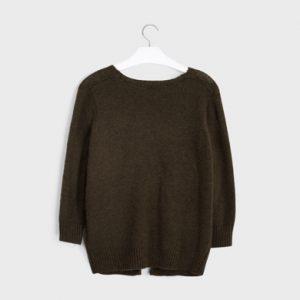 Giacca tricot tasche ragazza