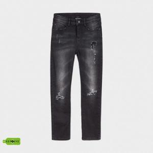 Jeans effetto loose fit strappato ragazzo