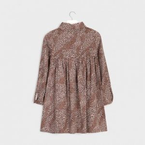 Vestito stampato leopardo ragazza