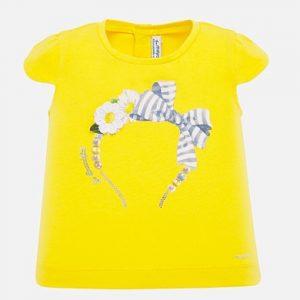 Maglietta manica corta disegno bambina