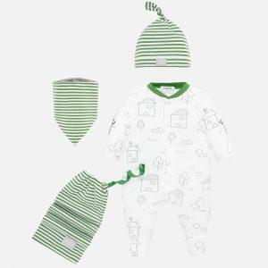 Set tutina bavaglino e berretto neonato