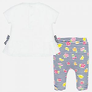 Completo maglietta e leggins disegni neonata