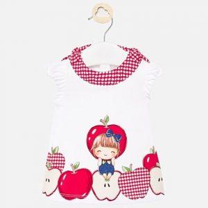 Vestito disegni e stampa neonata