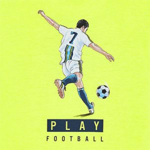 Maglietta manica corta football bambino