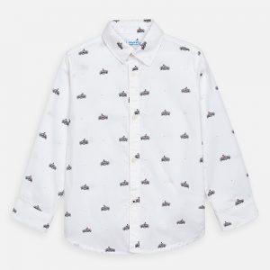 Camicia manica lunga stampata bambino