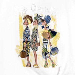 T-shirt con nodo ragazza