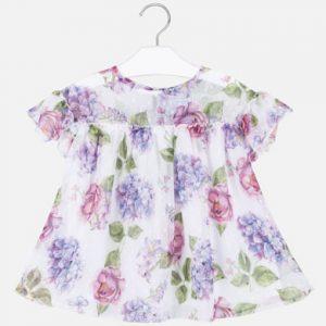 Blusa stampata fiori