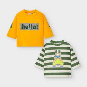 Set magliette manica lunga neonato