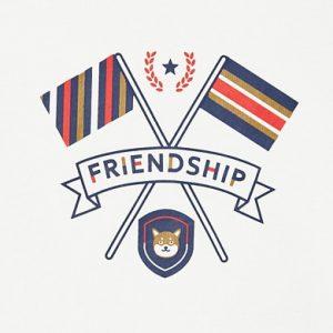 Maglietta manica lunga friendship bimbo