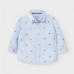 Camicia manica lunga stampata bimbo