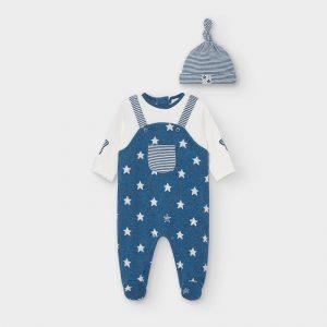 Tutina neonato stelle e cappellino neonato