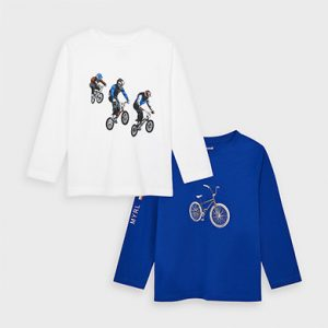 Set 2 magliette manica lunga bambino