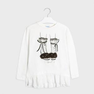 Maglietta manica lunga scarpe ragazza