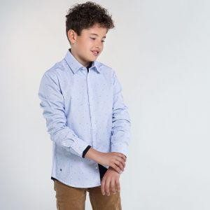 Camicia manica lunga jacquard