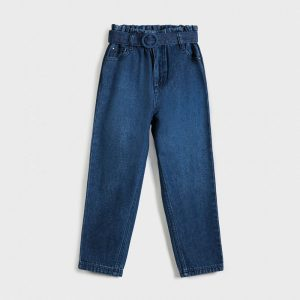 Pantalone slouchy denim ragazza