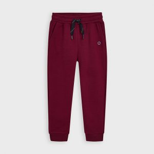 Pantalone tuta bordeaux