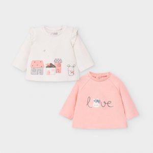 Set magliette manica lunga neonata
