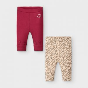 Set 2 leggings neonata