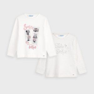 Set 2 magliette manica lunga bambina