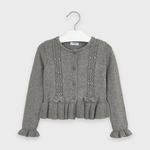 Cardigan tricot dettagli traforati bambina