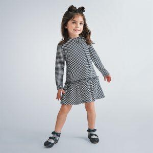Vestito quadri bambina