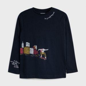 Maglietta manica lunga città ragazzo