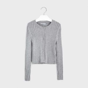Cardigan tricot costine ragazza