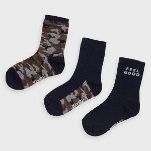 Set 3 calze camuflage bambino