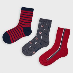 Set 3 calze stampate bambino