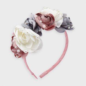 Cerchietto fiori e perle bambina