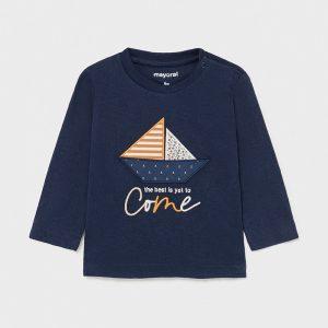 Maglietta manica lunga barca bimbo