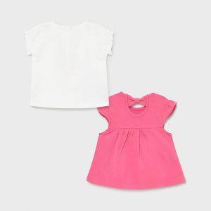 Set 2 magliette manica corta neonata