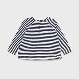 Maglietta manica lunga righe bimba