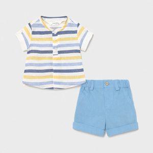 Completo bermuda e camicia neonato