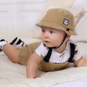 Pagliaccetto e cappello neonato