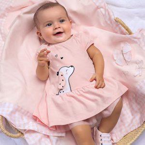 Vestito cagnolino neonata