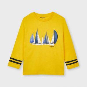 Maglietta m/l barche gialla