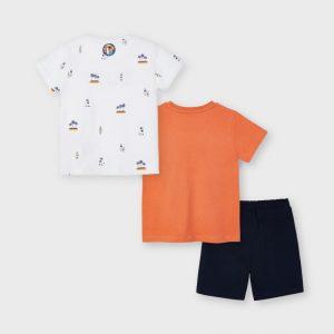 Completo 2 t-shirt e bermuda