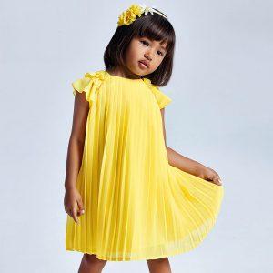 Vestito plissettato giallo