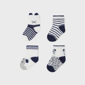 Set 4 calze neonato blu