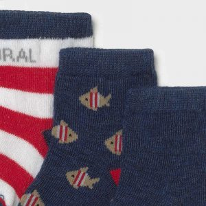 Set 6 calzini neonato indaco