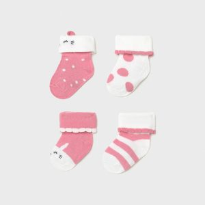 Set 4 calze neonata bubble gum