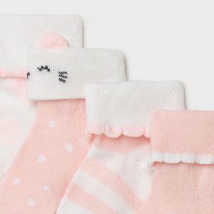 Set 4 calze neonata rosa