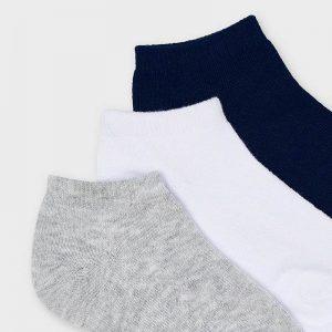 Set 3 calzini corti blu